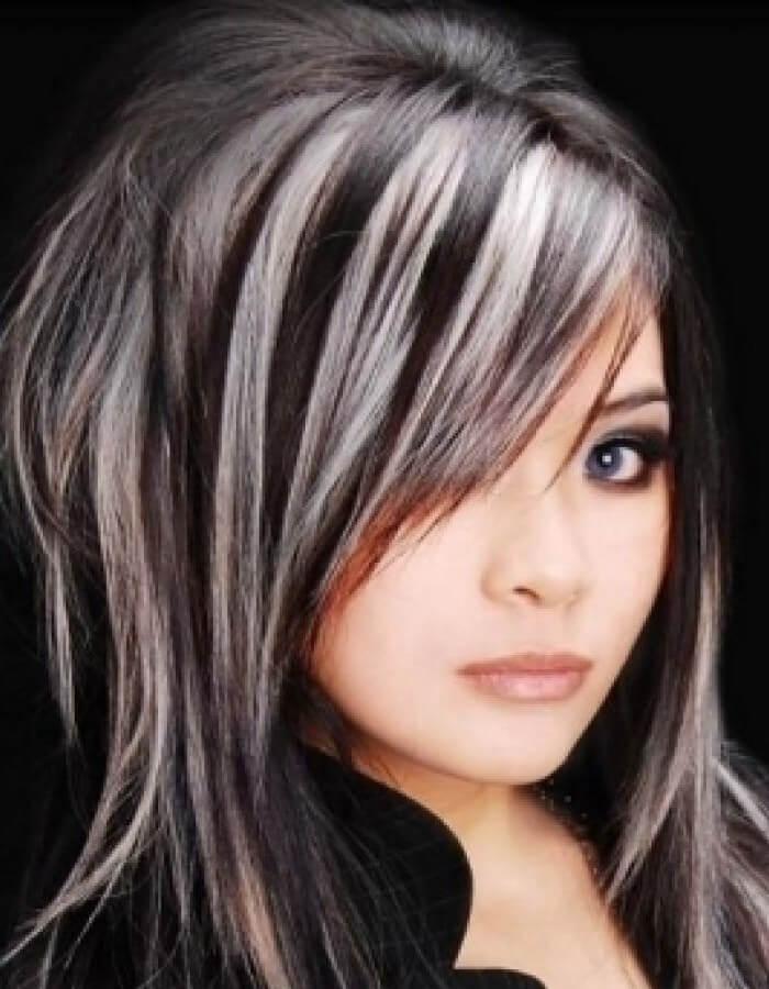 Темные волосы миллирование